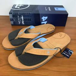 Peter Millar x Hari Mari Flip Flops Sandals Cognac MF18F28A