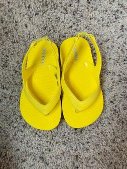 OLD NAVY Yellow Flip-Flops Size 7 Toddler Girls New Without