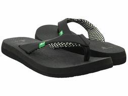 Sanuk Women's Yoga Mat Casual Flip Flop Sandals Black, Pick