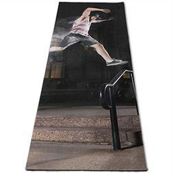 Jessent Yoga Mat Non Slip Bryce Parkour 24 X 71 Inches Premi