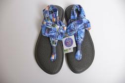 Sanuk Yoga Sling 2 Blue Love Yoga Mat Flip Flop Thong Sandal