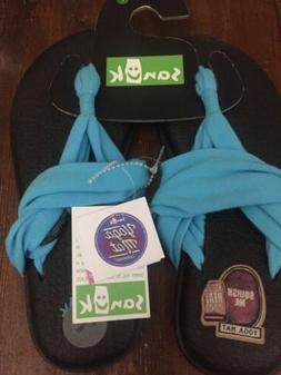 SANUK Yoga Sling 2  Aqua Blue Light Women's Sandals Flip F